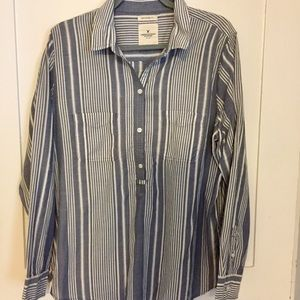 American Eagle Striped Blouse